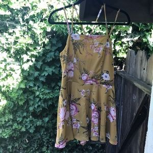 NWT yellow floral romper
